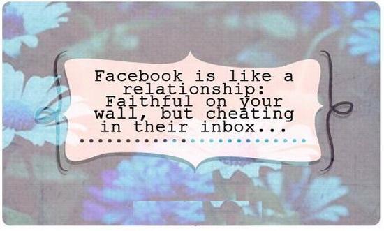 Flirten auf Facebook ... Weiter mit Vorsicht